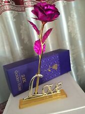 Gold Plated Decorative Rose Gift For Lovers Birthday Wedding etc.