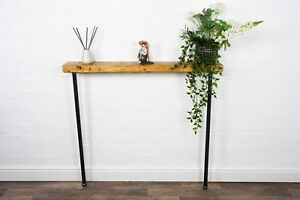 Slimline Radiator/Console Table With Hair Pin Legs | Reclaimed Timber Style