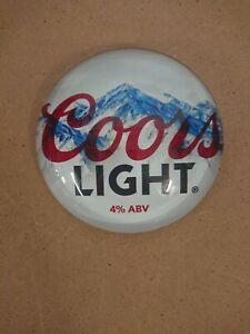 #R395 COORS LIGHT ROUND BAR BADGE, pub,font,tbar,mancave
