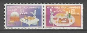 S36148 Turkish Chipre 2005 Europa Cept MNH 2v Gastronomía