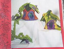"Fairy Cottage 8"" Elf House ornament scrap Craft Pattern leaf roof art doll"