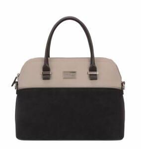 David Jones Women's Handbags, Black / Beige Handbag CM3749 - RRP - £42.99
