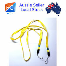 2 x Neck Lanyards yellow - Aussie seller