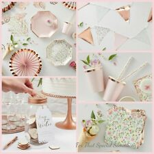 Ginger ray Party supplies. Table decor. Paper plates, napkins, bunting, garland