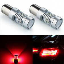 JDM ASTAR 2x 1157 BAY15D Red Bright PX SMD LED Brake Tail Turn Signal Light Bulb
