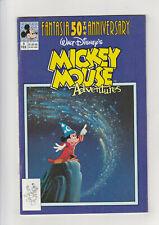 Mickey Mouse Adventures #9 F+ Disney comic 1991 Fantasia