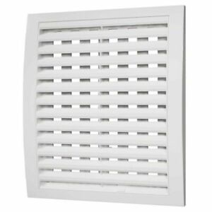 White Air Vent Grille with Shutter / Close and Open / Ducting Ventilation Cover