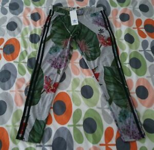 Ladies Adidas Floral Print Sports Leggings Tights Size 12 New With Tags