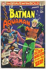 Brave And The Bold #82 Vg, Batman, Aquaman, Neal Adams c/a, Dc Comics 1969