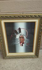 AMIL PEDRO NATIVE AMERICAN INDIAN CHIEF OIL PAINTING ART SPIRITUAL GILA RIVER AZ