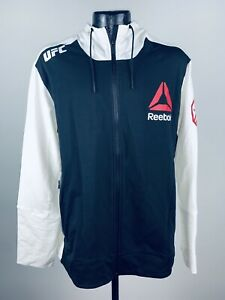 Men's Ronda Rousey Reebok UFC Fight Full-Zip Official White Walkout Hoodie NWT M