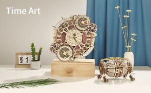 Zodiac Wall Clock Time Engine Calendar 3D DIY Model Kit Wooden Mechanical Gift