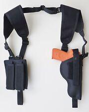 """Shoulder Holster for Colt Officers, Citadel Compact 3 1/2"""" Barrel, Dbl Mag Pouch"""