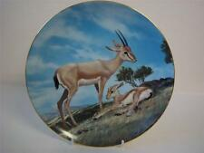 BRADEX THE ENDANGERED SPECIES COLLECTION THE SLENDER HORNED GAZELLE PLATE