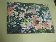 Garden Flowers Original 20th c. Watercolor Painting J. H. Bentz framed art