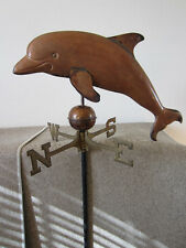LARGE DOLPHIN WEATHERVANE, MADE OF SOLID COOPER & BRASS