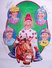 EDDIE ARCARO BILL SHOEMAKER LAFFIT PINCAY 1993 HALL OF FAME HORSE RACING POSTER!