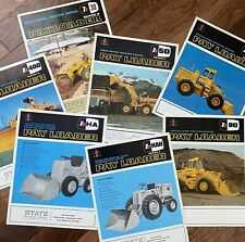 International Payloader - 7 Vintage Construction Mining Loader Brochures 1960s