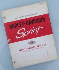 1961 to 1964 Harley Davidson Motorcycle Parts Catalog Manual Book Sprint C H