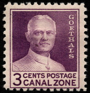 Canal Zone - 1934 - 3 Cents Violet General George Goethals Wet Printing # 117c
