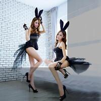 Sexy Adult Womens Rabbit Bunny Halloween Party Cosplay Costume Teddy Fancy Dress
