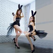 Sexy Adult Womens Rabbit Bunny Halloween Party Cosplay Costume Teddy Fancy Dress