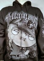 AUTHENTIC FAMILY GUY STEWIE VILLAINOUS THUG TV SHOW GRIFFIN ZIP UP HOODIE XL-4XL