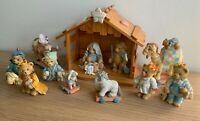 Cherished Teddies Christmas Set Nativity, Animals, Wise Men and Christmas Carol