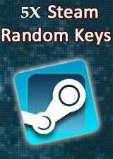 Random STEAM KEY -- 5x -- zufallskey -- Steam -- UE -- NUOVO -- TOP!!!