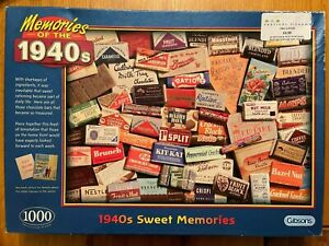 Gibsons - Memories of the 1940s - 1940s Sweet Memories Jigsaw - 1000 Pieces
