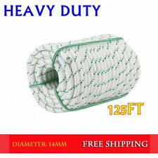 "1/2"" 125ft Braid Rope 8400Lbs BREAKING STRENGTH Safe Climbing Tree Rock QC"