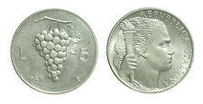 pci2478) Italia Repubblica in Italma - 5 Lire 1949 Uva - ex INASTA