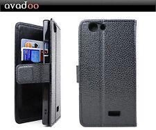 avadoo® Medion Life E5005 Flip Case Cover Tasche Leder in Schwarz Dualnaht Cover