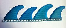 Futures QUAD Set di 4 PINNE per tavole da surf Surf Blu A NIDO D'APE Surf Pinna quadranti