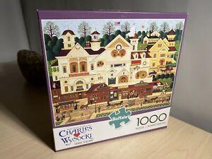 """Charles Wysocki 'Derby Square' 1000 Piece Jigsaw Puzzle 26.7""""x19.7"""" 2014"""