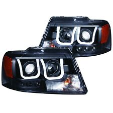 ANZO 2004-2008 FORD F150 HEAD LIGHTS BLACK *NOT FOR HERITAGE OR XLT MODEL*