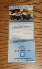 Original 2002 Oldsmobile Alero Foldout Sales Brochure 02