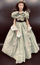 Franklin Mint Scarlett O'Hara Porcelain Doll Bbq Green Dress