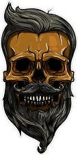 "#765 4.5"" Hipster Skull Hooligan Sticker Motorcycle Car Window Laptop Decal"