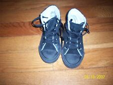 Converse All Star Black Suede Junior Boy Girl Hi Top Kids Shoes Size 13