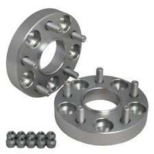 "Hub Centric 1"" (25mm) Wheel Adapters Spacers 5x100 FOR Chevy Chrysler Dodge"