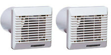 2 x Vent Axia 254102 Wall Duct & Grille Vent Kits 100mm / 4 Inch (White)