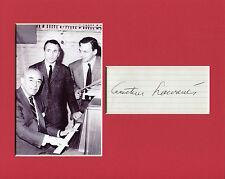 Arthur Laurents Broadway Signed Autograph Photo Display W/ Stephen Sondheim