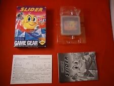 Slider (Sega Game Gear, 1991) COMPLETE w/ Box manual game WORKS!