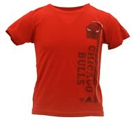 Chicago Bulls Youth Kids Size Official NBA Adidas Apparel T-Shirt New With Tags