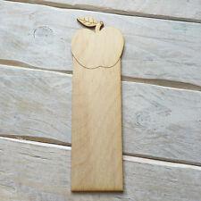 Wooden BOOK MARK TEACHER DIY Craft Blank Shapes APPLE BOOK MARK - 5 PACK