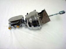 """1960 - 1966 Chevy Truck 8"""" Dual Chrome Booster + Smooth Flat Top Mater Cylinder"""