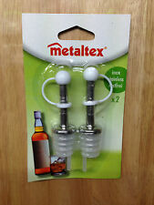 METALTEX Pk2 Push in Bottle Pourers, 8mm Spout great for Olive Oil Drizzler