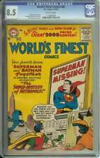 WORLD'S FINEST COMICS #84 CGC 8.5 OW PAGES // DICK SPRANGE COVER/ART