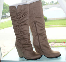 MIA WOMENS WEDGE BOOT BISUIT SAND #7us $120